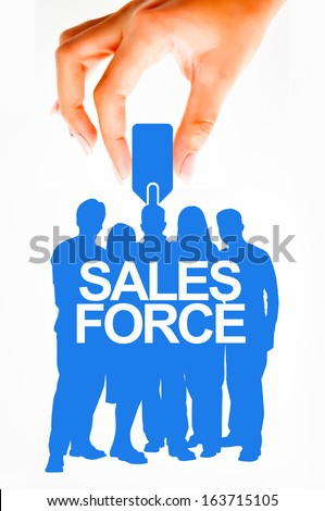Sales force concept - stock photo