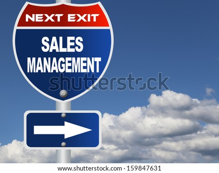 Sales management road sign - stock photo