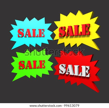 Sales post - stock photo