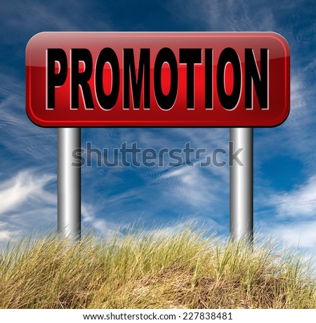 sales promotions in job or product promotion   - stock photo
