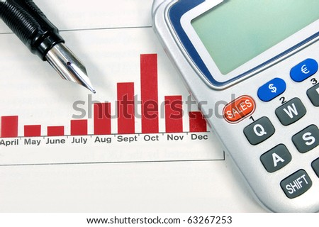Sales report - stock photo