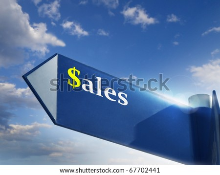 sales road sing for business and marketing concepts - stock photo