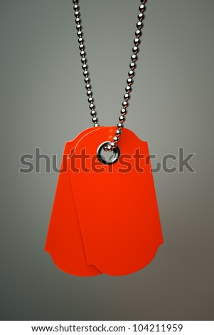 sales tags on a silver chain - stock photo