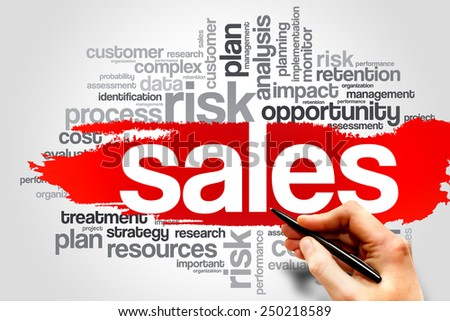 SALES word cloud, business concept - stock photo