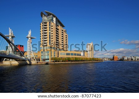 Salford Quays, Manchester - stock photo