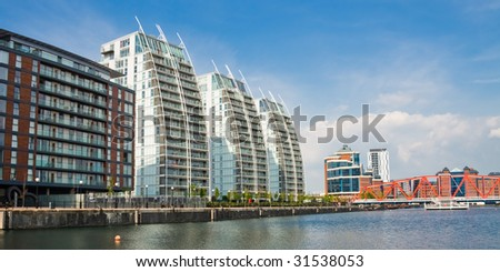 Salford Quays Modern Apartment - stock photo