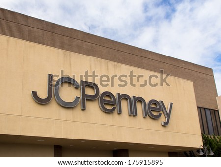 SALINAS, CA/USA - FEBRUARY 8, 2014: JC Penny store in Salinas California. J. C. Penney Company Inc. is a chain of American mid-range department stores based in Plano, Texas.