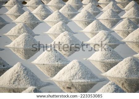 Saline in thailand - stock photo