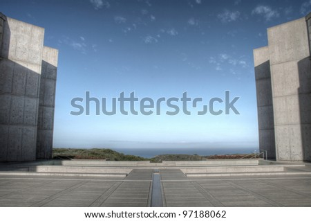 Salk Institute near UCSD, La Jolla, San Diego, CA - stock photo