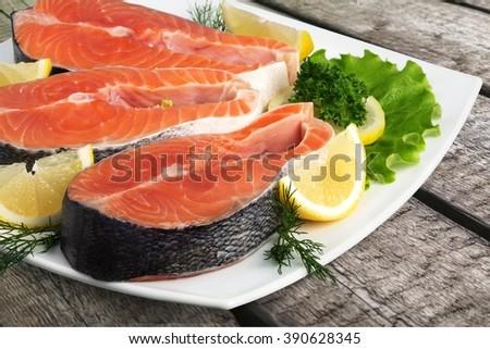 Salmon. - stock photo