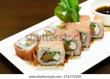 salmon cream cheese sushi