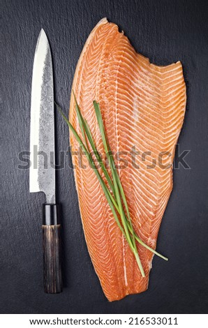 salmon filet - stock photo