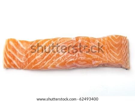 Salmon filet isolated on white background - stock photo