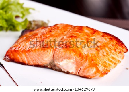 Salmon fillet - stock photo