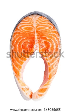 Salmon fillet slices - stock photo