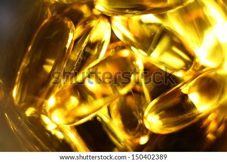 Salmon Fish Oil, abstract texture  - stock photo