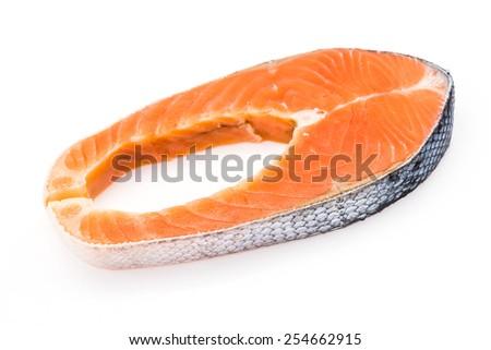 Salmon isolated on white - stock photo