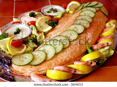 Salmon on a Platter Queen of the sea