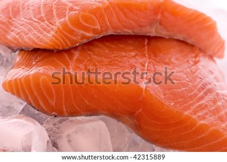 Salmon on Ice - stock photo