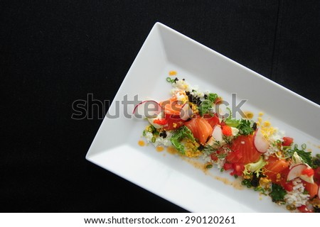 salmon salad - salmon salad - salmon salad-salmon salad - stock photo