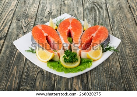 Salmon, Seafood, Prepared Fish. - stock photo