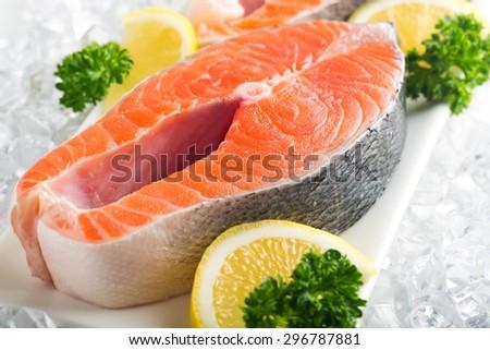 Salmon, Seafood, Prepared Fish. - stock photo