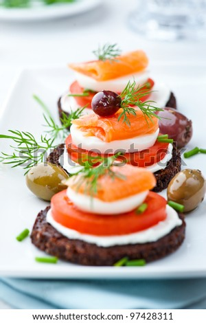 Salmon Snack - stock photo