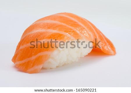 Salmon sushi nigiri - stock photo