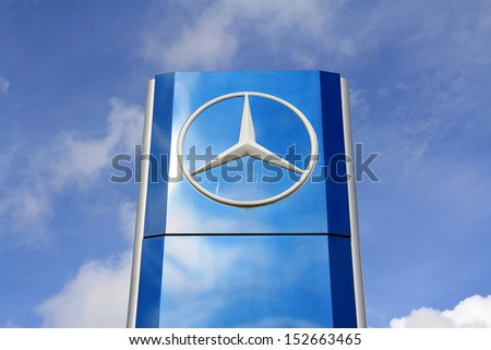 Mercedes benz stock images royalty free images vectors for Mercedes benz sign in