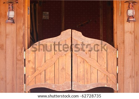 Saloon doors, wild west concept