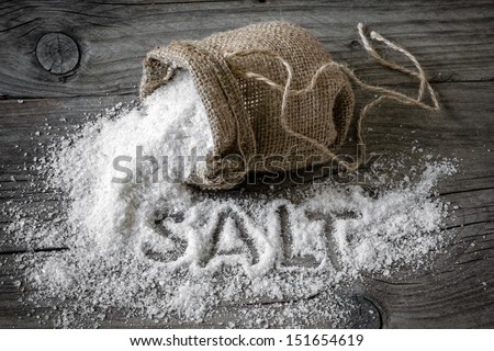 Salt - stock photo
