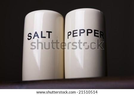 Salt and Pepper holder - stock photo
