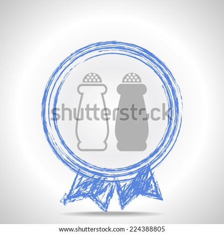 Salt and pepper, web icon.  - stock photo