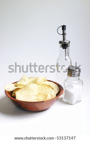 Salt and Vinegar Chips - stock photo