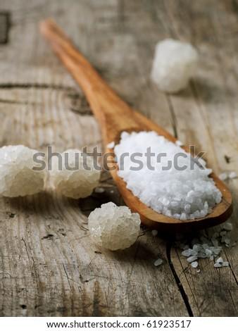 Salt closeup - stock photo