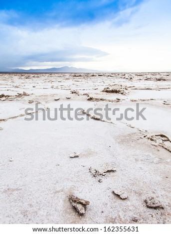 Salt desert close to Amboy, USA. Concept for desertification - stock photo