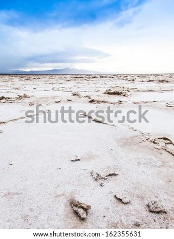 Salt desert close to Amboy, USA. Concept for desertification - stock photo
