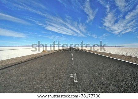 Salt desert road