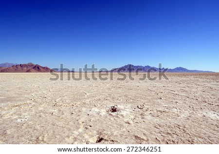 Salt field, Great Salt Lake, Ulta - stock photo