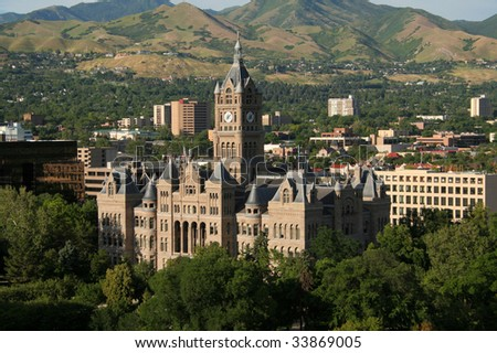 salt lake city government building - stock photo