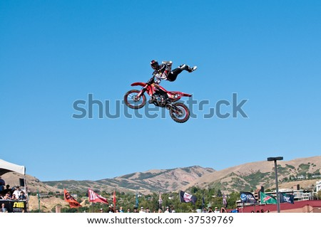 SALT LAKE CITY - SEPTEMBER 20: Ronnie Faisst competes in the FMX Jam at the 2009 Dew Tour Toyota Challenge held on September 20, 2009 in Salt Lake City, Utah.