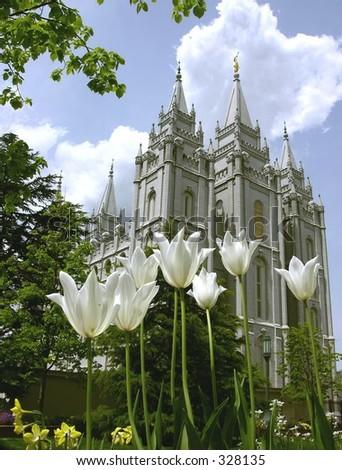 Salt Lake City Temple - stock photo