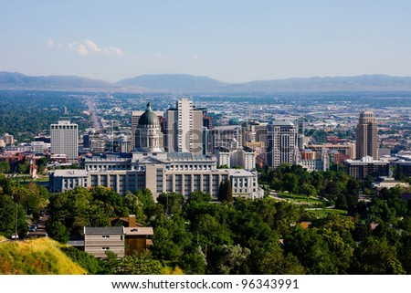 Salt Lake City, Utah - stock photo