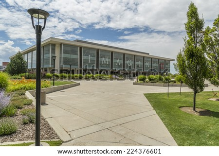 Salt Lake City, Utah - July 11, 2014: The Marriott Library at the University of Utah in Salt Lake City. - stock photo
