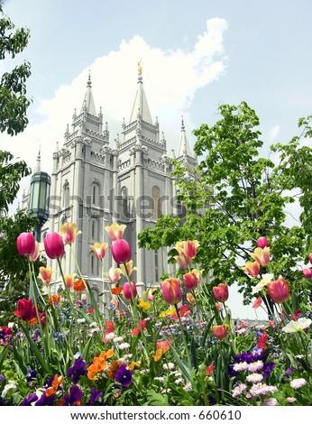 Salt Lake City,Utah Mormon temple - stock photo