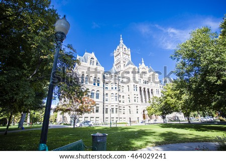 SALT LAKE CITY, UTAH, USA: SEPTEMBER 2015 Salt Lake City and County Building