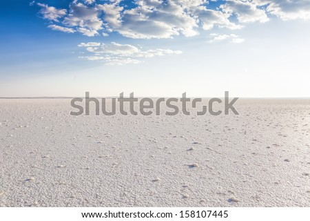 Salt Lake, Turkey - stock photo