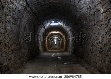 Salt Mine - stock photo