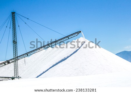 Salt mine processing and heavy production crane.