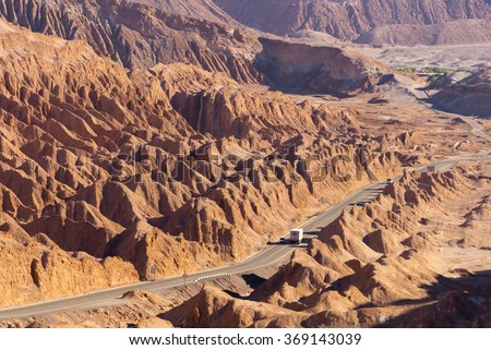 Salt Mountain Range (Cordillera de la Sal), San Pedro de Atacama (Chile) - stock photo